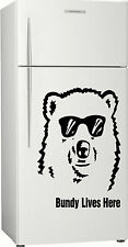 Present 1, Gift Bundy Bear Fridge, Bar, Rum Sticker Decal, 580 x 400mm