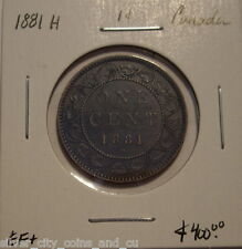 """Canada Victoria 1881H """"Doubled Obv Legend"""" Large Cent - EF+"""