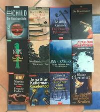 12 Bücher Krimi/Thriller Paket