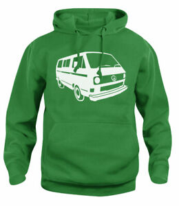 Unisex Dubstar Peace Campervan Bus T3 T25 Vanagon Wedge Hooded Sweat New XS-XXL
