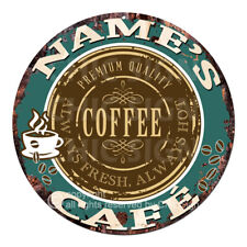 CP-0143 ANY NAME'S COFFEE CAFE Custom Personalized Tin Sign Decor Gift ideas