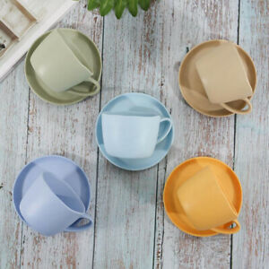 Home Office Unbreakable Melamine Plastic Saucer / Coffee Mug with Handle