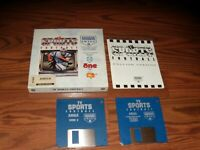 """TV Sports Football Commodore Amiga Game on 3.5"""" disks with manual and box"""