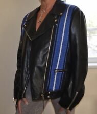 Manteaux et vestes bleu en cuir pour femme