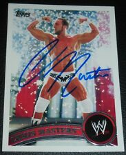 Chris Masters Signed 2011 Topps WWE Card #17 Autograph SmackDown Raw Wrestling