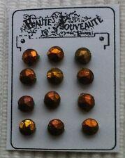 Antik:12 Hohl Glas-Perlen-Knöpfe Diamantenschliff 3,5mm Kauf-Moderladen um 1900