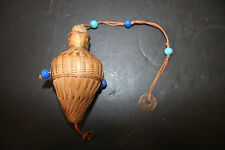 Vintage Chinese Wicker Herb Tea Medicine Bead & Coin Basket