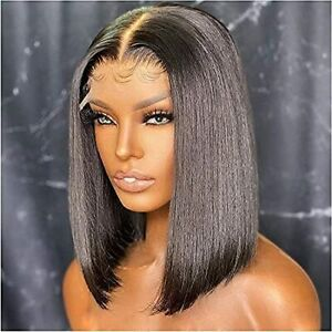 Brazilian Bob Lace Front Wigs Straight Human Hair 4x4 Lace Closure Front Wigs