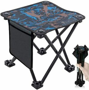 PORTABLE FOLDING CAMPING STOOL CHAIR SEAT + CARRY BAG OUTDOOR PICNIC FISHING BBQ