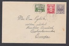 Japan Sc 131, 133, 194 on tri-color cover to Korea to Czechoslovakia Vf
