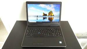 Dell Precision 7510 laptop, Intel i7 Quad CPU, 16GB RAM, 256GB SSD, Windows 10