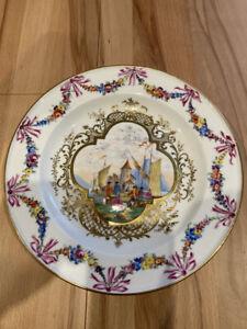 Schöner Teller Prunkteller von Meissen 1. Wahl 24,5 cm
