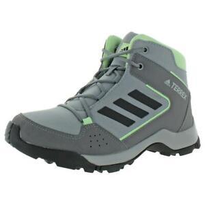 Adidas Girls Terrex Hyperhiker K Gray Hiking Boots 4.5 Medium (B,M) Big Kid 9193