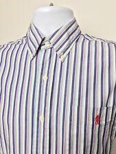 Polo By Ralph Lauren Regent Custom Fit Shirt,Colorful,100% Cotton, Sz S,EUC