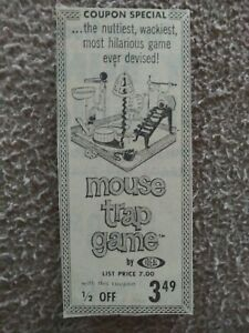 1963 Ideal Mouse Trap Game Coupon