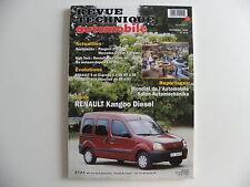revue technique automobile RTA neuve Renault KANGOO diesel n° 610