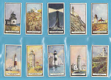 BUILDINGS - WILLS NEW ZEALAND  -  RARE SET OF 50 LIGHTHOUSES CARDS  - 1926