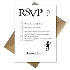 Funny RSVP Card - The Bell Controversy! Wedding or party invitation acceptance