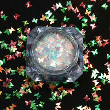 Fashion Butterfly Nail Art Flakes Glitter Sequins Sparkle Colorful Paillette New