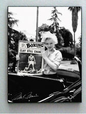 Framed Marilyn Monroe holding Muhammad Ali faux signed autograph Limited Edition