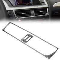 1pc Carbon Fiber Middle Console Air Vent Outlet Cover Decro Trim For Audi A4 B8