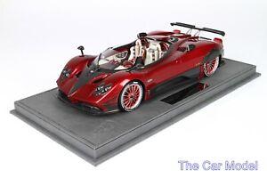 Pagani Barchetta Red Rosso Metallic - Ltd 24 pcs w/ Display Case BBR 1/18