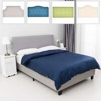 Twin/Full/Queen Height Adjustable Linen Fabric Upholstered Headboard Bedroom