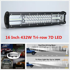 "16"" Inch 432W Tri-row 7D LED Off-Road Work Light Bar Spot Flood Combo Waterproof"