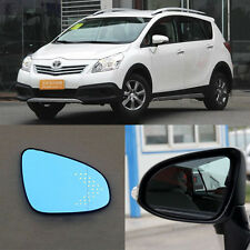 Rearview Mirror Blue Glasses LED Turn Signal with Power Heating For Toyota Verso