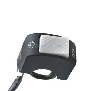 Gray 12V Motorcycle Handlebar Headlight Horn Start Kill On/Off Button Switch