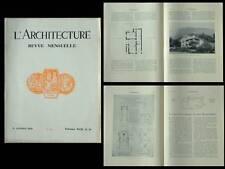 L'ARCHITECTURE 1929 LOUIS SOREL, ALGER, GRAS, MONESTES, LA FERTE BERNARD