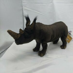 Hansa Plush Rhinoceros  Portraits of Nature Original tags