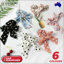 Hair Band Scarf Bow Floral Ties Rope Elastic Scrunchies Women Girls Accessories