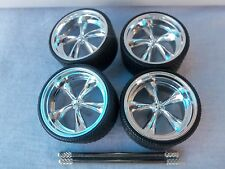 JADA DUB CITY 1/24 SCALE KMC WHEELS FOR REPAIRING FITS 1996 OR 1967 CHEVY IMPALA