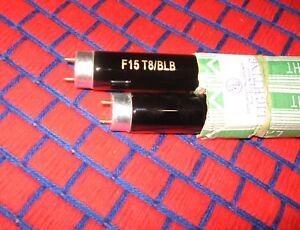 """BOX of 6 new F15T8/BLB fluorescent 18"""" black light blue BULB 15w blacklite F15T8"""