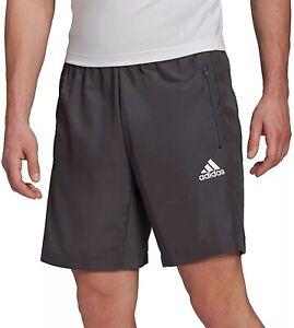 Adidas AeroReady Woven Men's Athletic Performance Shorts Grey Workout Training