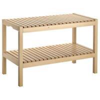 Ikea Bank from Solid Birch Tree Badezimmerbank Stool Shelf Bench Settee