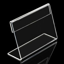 Counter Clear Desk Sign Price Tag Table Decoration Label Holder Display Stand