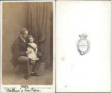 Ashdown, Hastings, Cathrin and his Papa Vintage CDV albumen carte de visite.
