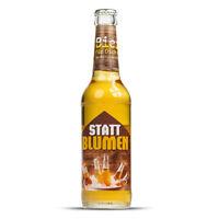 Bier statt Blumen - Biergeschenk, Bierflasche 0,33 Liter, Lustiges Etikett, Pils