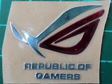 ASUS Republic of Gamers Rog Silver/red Metal Case Sticker Badge Custom LOOK
