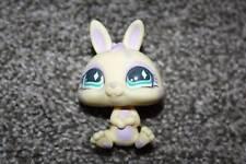 Littlest Pet Shop Bunny #471 Cream Purple Swirl Teal Diamond Eyes LPS Toy Rabbit