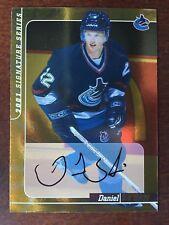 2000-01 2001 BAP GOLD Signature Series Daniel Sedin RC Autograph Card RC AUTO