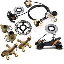 Go Kart Hydraulic Brake Caliper Assembly Kit Wheel Hub Steering Knuckle ATV Quad