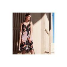V-Neck Floral Dresses Slip
