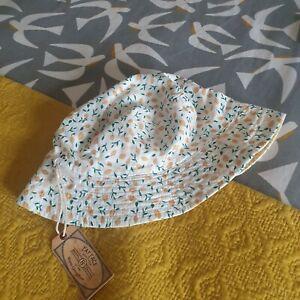 Fat Face Womens Summer Cotton Bucket Hat Lemons