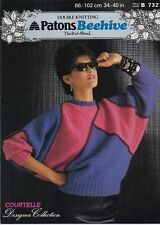 DK Patons Beehive The rich blend, knitting pattern Women Patchwork batwing Sweat
