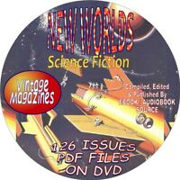 NEW WORLDS SCIENCE FICTION VINTAGE MAGAZINES  - 126 ISSUES-PDF-CD