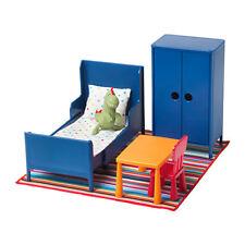 IKEA HUSET Childrens Doll Miniature Bedroom Furniture Toys Blue New