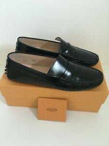 TOD'S Gommino Moccasin Loafer Black 38.5 UK 5.5
